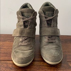 Ash Bowie lace-up suede sneaker bootie size 7